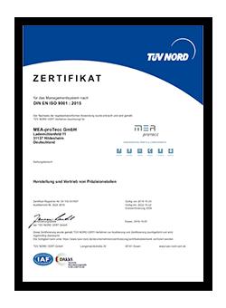MEA-proTecc DIN EN ISO 9001 : 2015